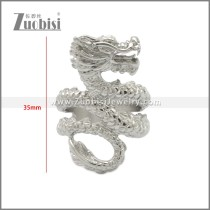 Big Chinese Dragon Ring Stainless Steel for Men r008934S