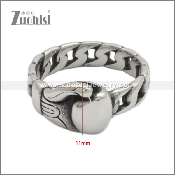 Stainless Steel Ring r008952S