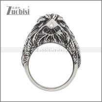 Stainless Steel Black Eyeball Eagle Ring r008998SA2