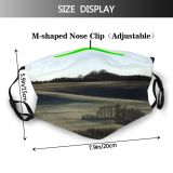 yanfind Winter Field Sky Christmas Horizon Morning Natural Winter Atmospheric Grey Paths Landscape Dust Washable Reusable Filter and Reusable Mouth Warm Windproof Cotton Face