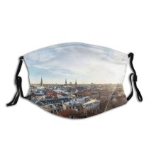yanfind Christianshavn Capital Frost Cities Sunset Wide Denmark Oresund Frozen Snow City Place Dust Washable Reusable Filter and Reusable Mouth Warm Windproof Cotton Face
