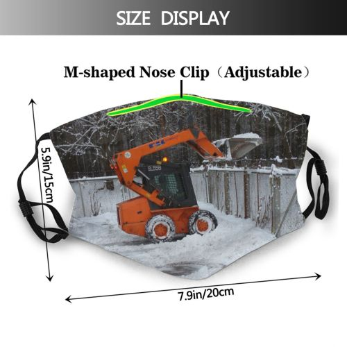 yanfind Wheel Construction Blower Vehicle Tree Snowplow Winter Freezing Snow Tractor Snow Dust Washable Reusable Filter and Reusable Mouth Warm Windproof Cotton Face