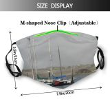yanfind Watercraft Ocean Transportation Mast Sailboat Sail Boat Vehicle Ship Sailboat Calm Morro Dust Washable Reusable Filter and Reusable Mouth Warm Windproof Cotton Face