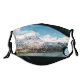 yanfind Country Exploration Range Landscape Winding Trip Frozen Iceland Tranquility Journey Through Scene Dust Washable Reusable Filter and Reusable Mouth Warm Windproof Cotton Face