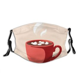 yanfind Cup Tea Hot Cappuccino Design Restaurant Milk Handle Steam Space Art Mocha Dust Washable Reusable Filter and Reusable Mouth Warm Windproof Cotton Face