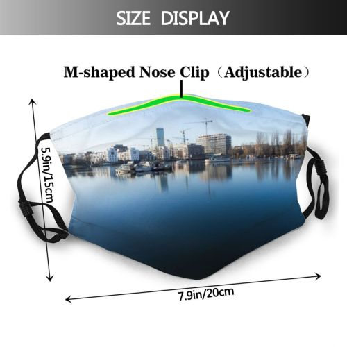 yanfind Capital Cities Waterfront Tranquility Built City Architecture Construction Exterior Sky Space Building Dust Washable Reusable Filter and Reusable Mouth Warm Windproof Cotton Face