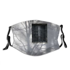 yanfind Dappled Public Atmospheric Sill Mood Generic Bare Built Tree Branch Abstract Focus Dust Washable Reusable Filter and Reusable Mouth Warm Windproof Cotton Face