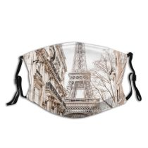 yanfind Public Capital Eiffel Cities France Tower Tree Snow City Place Architecture Exterior Dust Washable Reusable Filter and Reusable Mouth Warm Windproof Cotton Face