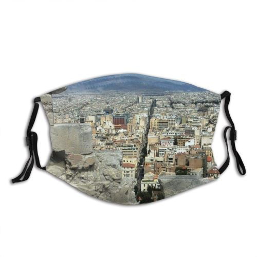 yanfind Wall Tourism Urban Town City Scenery Sky Ancient Settlement Ruins Rock Area Dust Washable Reusable Filter and Reusable Mouth Warm Windproof Cotton Face