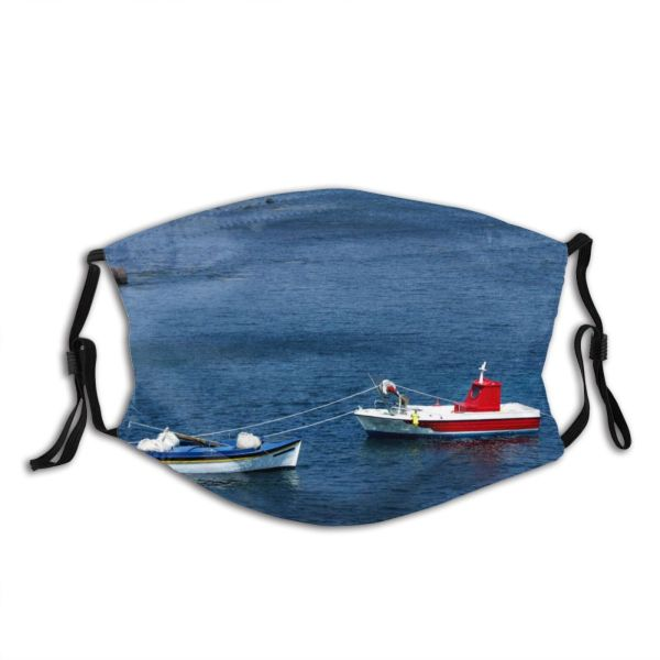yanfind Watercraft Salt Transportation Boat Sea Sky Vehicle Boating Calm Ocean Boat Tourism Dust Washable Reusable Filter and Reusable Mouth Warm Windproof Cotton Face