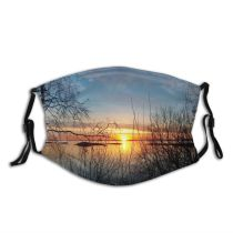 yanfind Cloud Sunset Landscape Norway Sky Reflection Horizon Tree Sunrise Natural Sun Dust Washable Reusable Filter and Reusable Mouth Warm Windproof Cotton Face