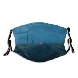 yanfind Country Away Ice Frost Distant Communication From Journey Rural Scene Night Snow Dust Washable Reusable Filter and Reusable Mouth Warm Windproof Cotton Face