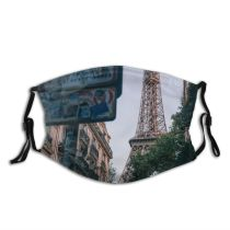 yanfind Idyllic Exterior Landmark Sight Tower Eiffel Architectural Tourism Tranquil Facade France Architecture Dust Washable Reusable Filter and Reusable Mouth Warm Windproof Cotton Face