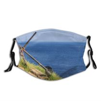 yanfind Brittany Season Travel Sky Past Old Summer Water's Scenery Sea France Landscape Dust Washable Reusable Filter and Reusable Mouth Warm Windproof Cotton Face