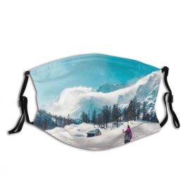 yanfind Cabin Freedom Pursuit Hiking Snowcapped Piedmont Pointing Outdoor Hut Affectionate Leisure Contemplation Dust Washable Reusable Filter and Reusable Mouth Warm Windproof Cotton Face