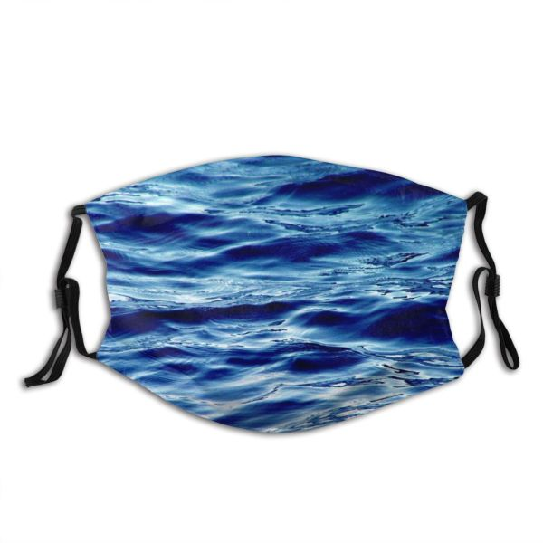 yanfind Wave Resources Sea Sky Reflection Ocean Azure Sea Wave Wind Dust Washable Reusable Filter and Reusable Mouth Warm Windproof Cotton Face
