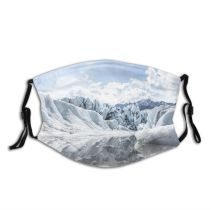 yanfind Ice Landscape Tranquility Peak Polar Scene Snow Snowcapped Sky Scenics Formation Cloud Dust Washable Reusable Filter and Reusable Mouth Warm Windproof Cotton Face