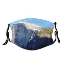 yanfind Formation Granite Cliff Mountainous Dome Ridge Geology Batholith Rock Mountain Outcrop Half Dust Washable Reusable Filter and Reusable Mouth Warm Windproof Cotton Face