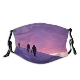 yanfind Dawn America Sport End Sunset Landscape Moving Hiking Climbing Snow Sunrise Exhilaration Dust Washable Reusable Filter and Reusable Mouth Warm Windproof Cotton Face