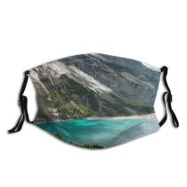 yanfind Idyllic Overcast Shore Coast Freedom Lake Calm Reservoir Mountain Highland Rock Pond Dust Washable Reusable Filter and Reusable Mouth Warm Windproof Cotton Face