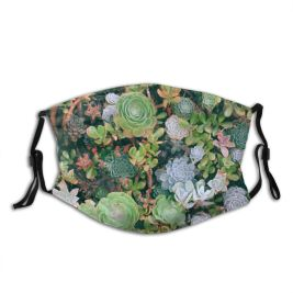 yanfind Idyllic Tropical Botanical Ecology Daylight Rounded Exotic Greenery Top Silent Picturesque Scenery Dust Washable Reusable Filter and Reusable Mouth Warm Windproof Cotton Face