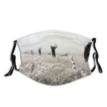 yanfind Winter Natural Winter Atmospheric Landscape Family Grass Dust Washable Reusable Filter and Reusable Mouth Warm Windproof Cotton Face