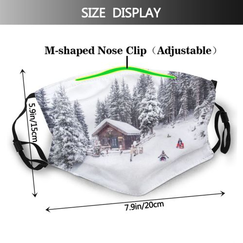 yanfind Cabin Travel Child Hut Leisure Harmony Structure Community Son Tobogganing Lifestyles Togetherness Dust Washable Reusable Filter and Reusable Mouth Warm Windproof Cotton Face