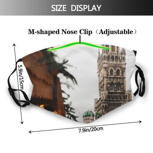 yanfind Capital East Cities Cathedral Government Tree Bavaria Tradition Architecture Focus German Ornament Dust Washable Reusable Filter and Reusable Mouth Warm Windproof Cotton Face