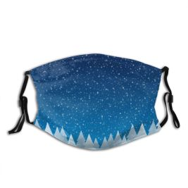 yanfind Dawn Atmospheric Design Mood Landscape Falling Tree Scene Night Snow Forest Fir Dust Washable Reusable Filter and Reusable Mouth Warm Windproof Cotton Face