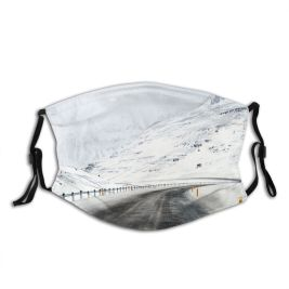 yanfind Country Central Social Vanishing Range Distant Winding Point Landscape Trip Iceland Polar Dust Washable Reusable Filter and Reusable Mouth Warm Windproof Cotton Face