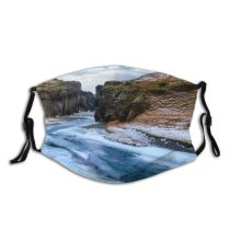yanfind Ice Social Environmental Landscape Iceland Rural Scene Canyon Issues River Travel Season Dust Washable Reusable Filter and Reusable Mouth Warm Windproof Cotton Face