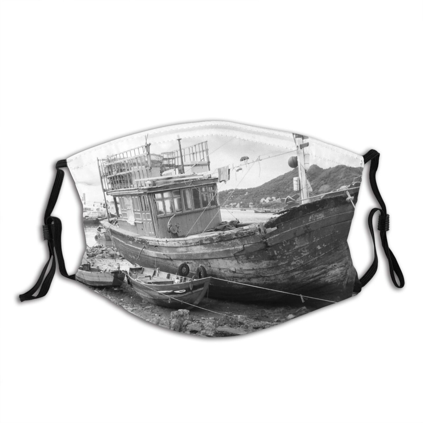 yanfind Watercraft Transportation Boats Vehicle Trawler Vessel Ship Boat Ships Shipwreck Fishing Dust Washable Reusable Filter and Reusable Mouth Warm Windproof Cotton Face