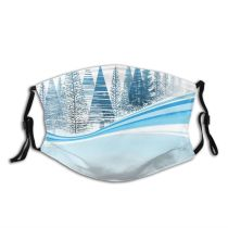 yanfind Ice Social Sport Glowing East Star Landscape Frozen Tree Scene Snow Entertainment Dust Washable Reusable Filter and Reusable Mouth Warm Windproof Cotton Face