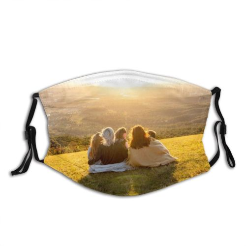 yanfind Bush Sunset Adolescence Redhead Girls Family Corn Mt. Rainforest Mountain Caucasian Happiness Dust Washable Reusable Filter and Reusable Mouth Warm Windproof Cotton Face
