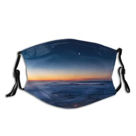 yanfind Dawn Castleton Atmospheric Ice Glowing Dramatic Jupiter Mood Hill Landscape Majestic Outer Dust Washable Reusable Filter and Reusable Mouth Warm Windproof Cotton Face