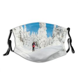 yanfind Country Exploration Ski Sport Coniferous Frozen Solitude Powder Touring Freedom Tree Hiking Dust Washable Reusable Filter and Reusable Mouth Warm Windproof Cotton Face