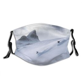 yanfind Country Exploration Ice America Ski Sport Landscape Frozen Solitude Powder Touring Banff Dust Washable Reusable Filter and Reusable Mouth Warm Windproof Cotton Face