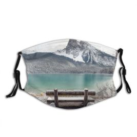 yanfind Dawn Atmospheric America Seat Dramatic Range Mood Majestic Landscape Tranquility Rural Banff Dust Washable Reusable Filter and Reusable Mouth Warm Windproof Cotton Face