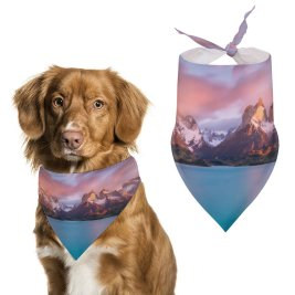 yanfind Pet Scarf Lake Pehoe Torres Del Paine National Park Landscape River Sunny Scenery Chile Pet Outfit Kerchiefs Accessories for Small to Large Dogs Cats