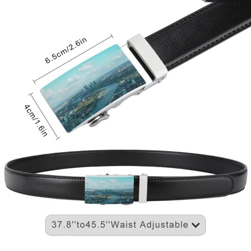 yanfind Belt Beautiful City Downtown Cityscape Clouds Daylight Travel  Buildings Sight  London Men's Dress Casual Every Day Reversible Leather Belt