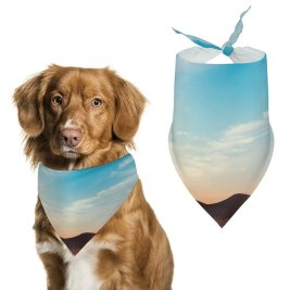 yanfind Pet Scarf Karan Gujar Dry Fields Sunny Summer Landscape Pet Outfit Kerchiefs Accessories for Small to Large Dogs Cats
