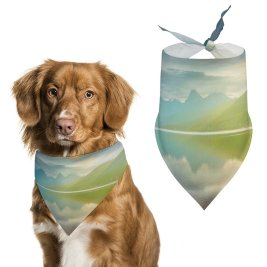 yanfind Pet Scarf Lake McDonald Glacier National Park Montana Sunrise Golden Hour Mountain Range Reflection Pet Outfit Kerchiefs Accessories for Small to Large Dogs Cats