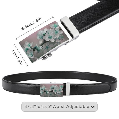 yanfind Belt Beautiful Blossoms Flowers Botanical Growing Growth Blooming Flora Petals Decoration Bloom Men's Dress Casual Every Day Reversible Leather Belt
