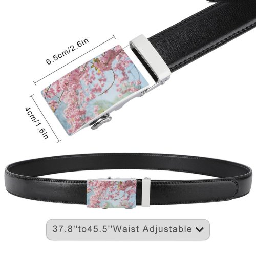 yanfind Belt Beautiful Branch Blossoms Flowers Season Springtime Growth Blooming Garden Outdoors Cherry Flora Men's Dress Casual Every Day Reversible Leather Belt