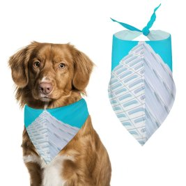 yanfind Pet Scarf JOSHUA COLEMAN Architecture Pyramid Modern Geometrical Pet Outfit Kerchiefs Accessories for Small to Large Dogs Cats
