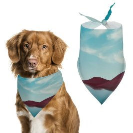 yanfind Pet Scarf Karan Gujar Lone Tree Lake Dry Fields Clear Sky Reflections Landscape Summer Pet Outfit Kerchiefs Accessories for Small to Large Dogs Cats