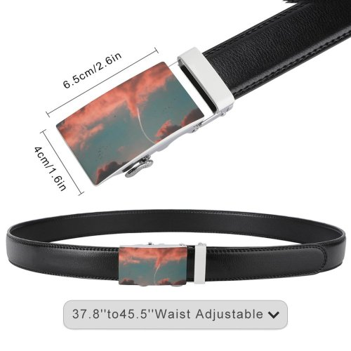 yanfind Belt Beautiful Clouds Sunset Daylight Evening Cloud   Outdoors Scenic Flock Dramatic Men's Dress Casual Every Day Reversible Leather Belt