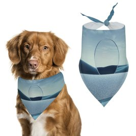 yanfind Pet Scarf Karan Gujar Graphics CGI Mirror Surreal Clear Sky Fusion Pet Outfit Kerchiefs Accessories for Small to Large Dogs Cats