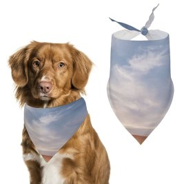 yanfind Pet Scarf Karan Gujar Evening Dusk Landscape Dry Fields Pet Outfit Kerchiefs Accessories for Small to Large Dogs Cats