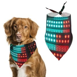 yanfind Pet Scarf JOSHUA COLEMAN Staircase LED Lights Pet Outfit Kerchiefs Accessories for Small to Large Dogs Cats